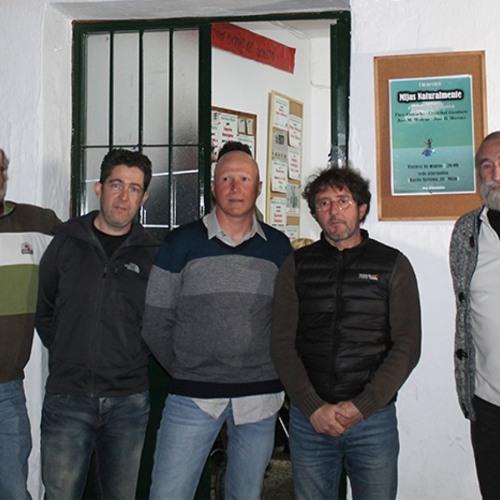 2018-04-17.- Julio Conejo, Cristóbal Gambero, José Moreno yJosé M. Moreno- Mijas Naturalmente