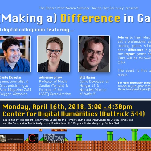 """Episode 11 - """"(Making a) Difference in Gaming"""" with Dante Douglas, Dr. Adrienne Shaw, and Bill Harms"""