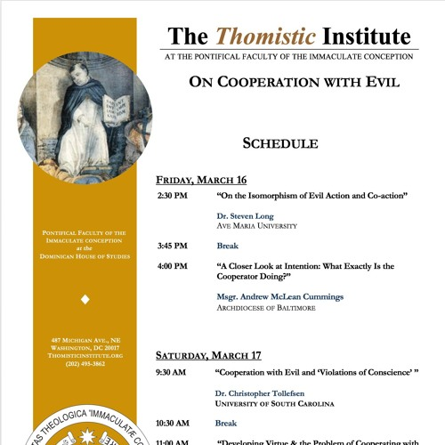 On Cooperation with Evil | Thomistic Circles Conference Spring 2018