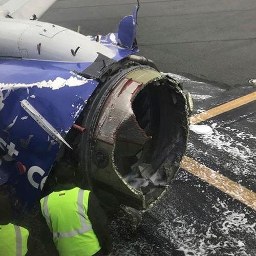 Southwest Airlines Flight 1380 engine failure (courtesy LiveATC.net)