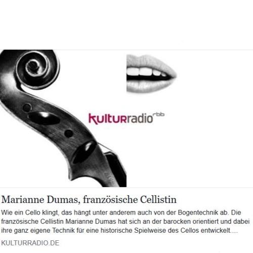 Marianne Dumas, Französische Cellistin, RBB interview