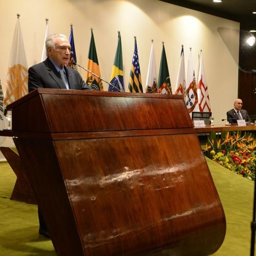 Discurso do presidente Michel Temer durante a formatura da Turma Marielle Franco