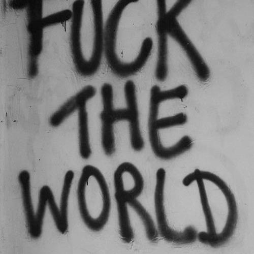 Risultati immagini per fuck the world graffito