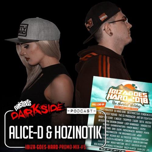 Twisted's Darkside Podcast 291 - ALICE-D & HOZINOTIK - Ibiza Goes Hard Promo Mix #5