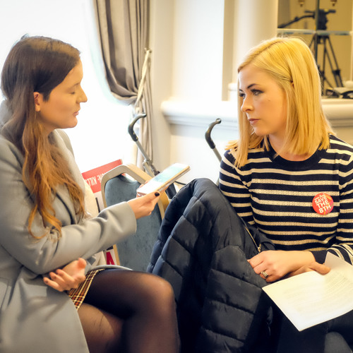 Louise Dunleavy who had a medical crisis when pregnant speaking on the Pat Kenny show 24April2018