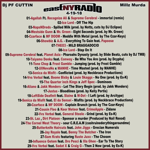 Eastnyradio 4 19 18 All New Hiphop Mix Pf Cuttin By Pfcuttin
