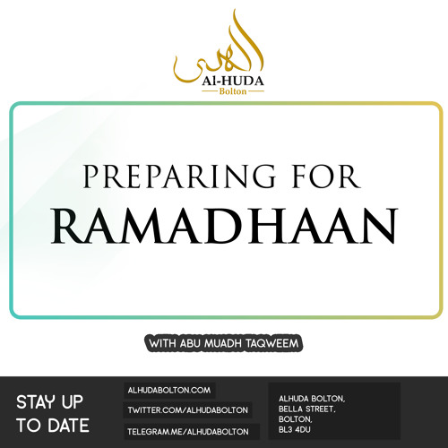Preparing for Ramadhaan