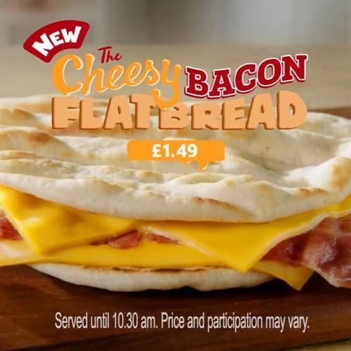 McDonalds Cheesy Bacon Flatbread 'Sat Nav'