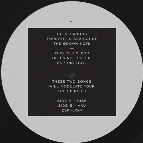 "[ESP075] CLEVELAND - Tusk b/w Aku - 12"" Vinyl/Digital"