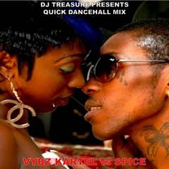 DJ Treasure Di Mixtape Emperor  - Vybz Kartel vs Spice