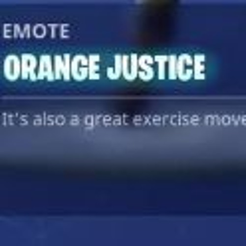 - hype orange justice fortnite