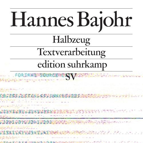 Hannes Bajohr: »Halbzeug«