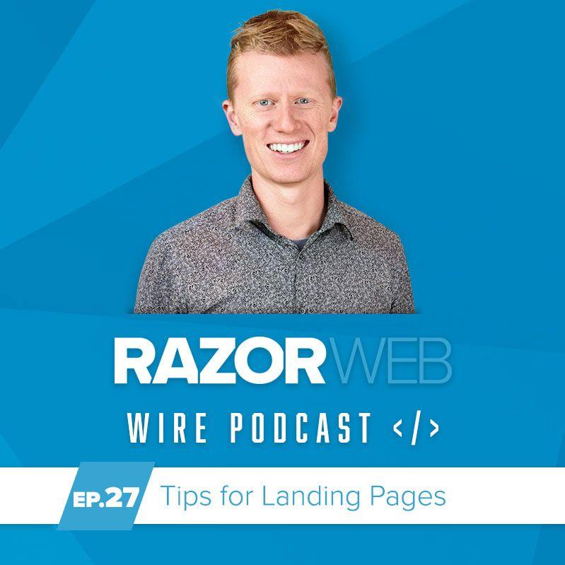 image of podcast Episode 27: Tips for Creating a Landing Page