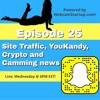 Podcast 25: Site Traffic, YouKandy, Camming Sites Supporting Cryptocurrency and More!
