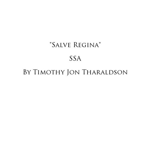 """Salve Regina"" by Timothy Jon Tharaldson"