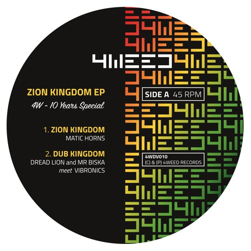 "Zion Kingdom Ep - 12"" Yellow Wax - 4Weed Records"
