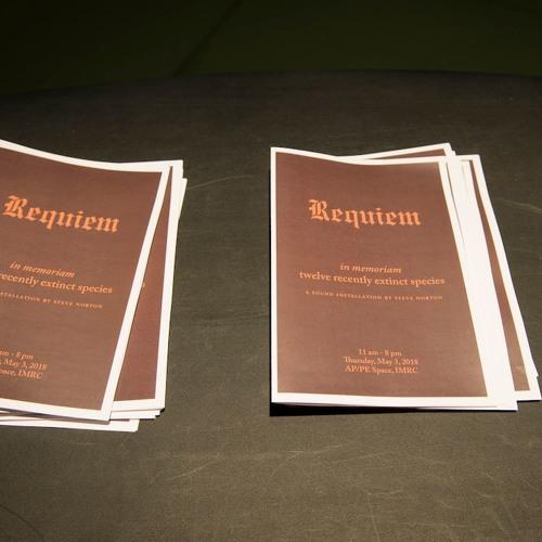Requiem (in memoriam twelve extinct species)