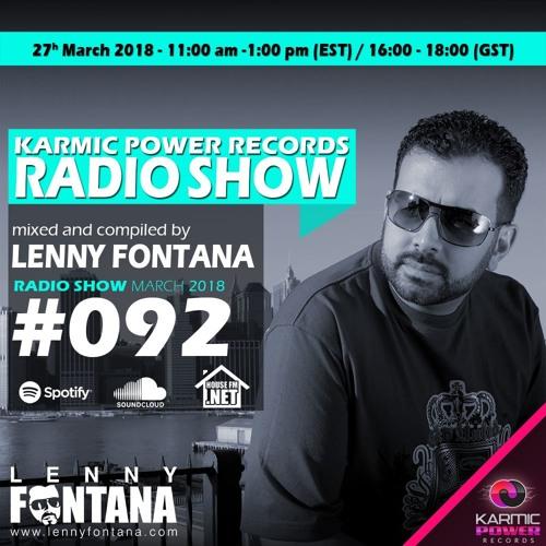 #92 Karmic Power Records Radio Show On HouseFM.NET mixed by Lenny Fontana 27. March 2018