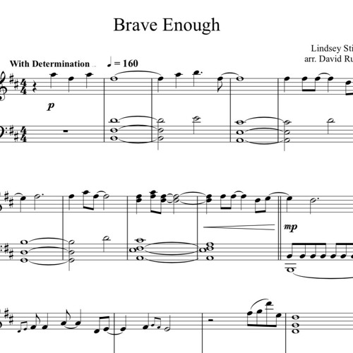 Brave Enough Piano Solo