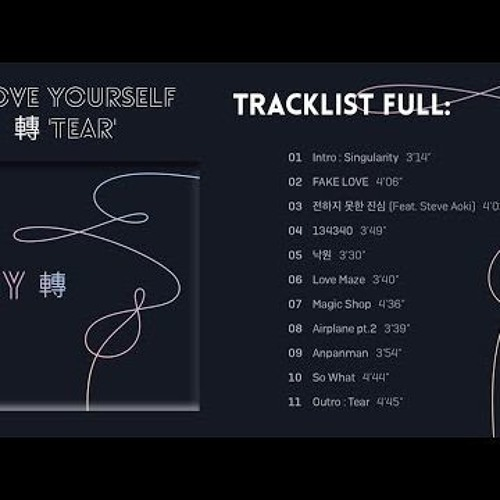 bts love yourself tear download free