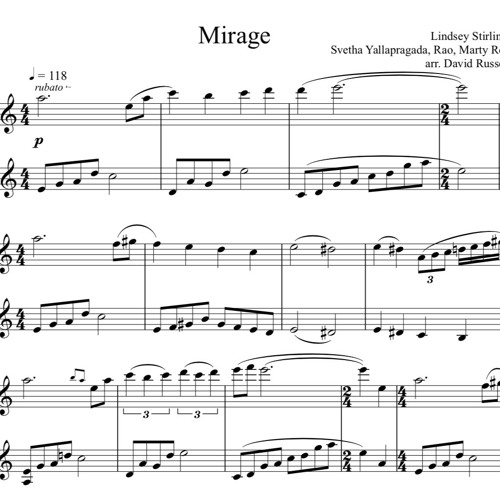 Mirage Piano Solo