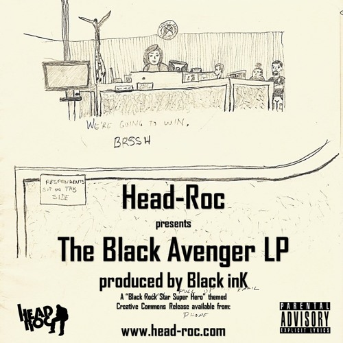 Head-Roc's The Black Avenger LP (Produced by Black inK)
