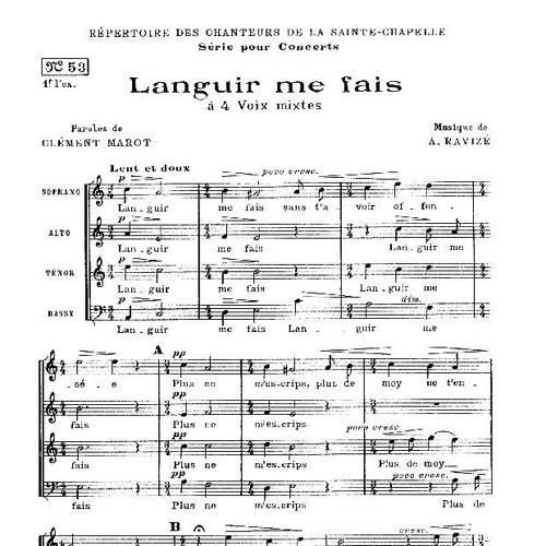 Ensemble Leonor - A. Ravizé : Languir Me Fais (extrait)