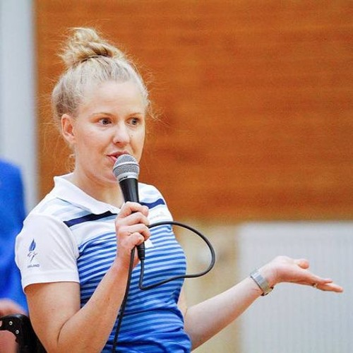 Para School Day -kiertueen koordinaattori Reeta Lindeman haastattelussa.