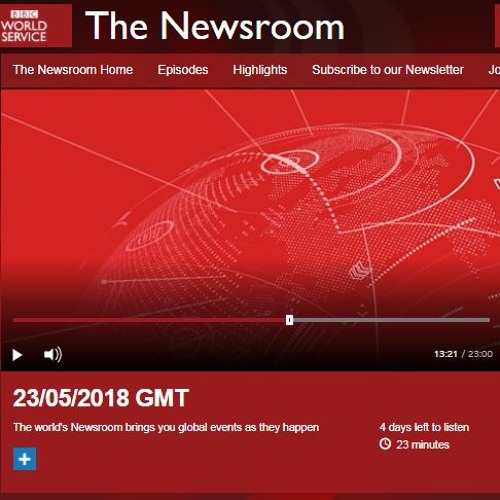 BBC World Service, The Newsroom, 23/05/2018