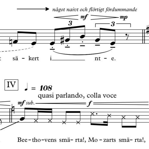 Kapitel I for Mezzosoprano - performed by Emma Sventelius