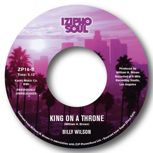 BILLY WILSON - KING ON A THRONE