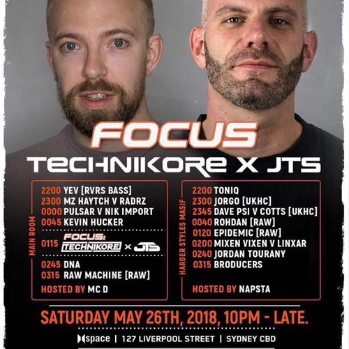 Dave PSI & Cotts - Live @ Focus 28-MAY-18, Sydney, Australia