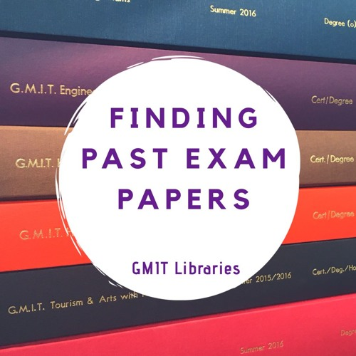 Finding Past GMIT Exam Papers