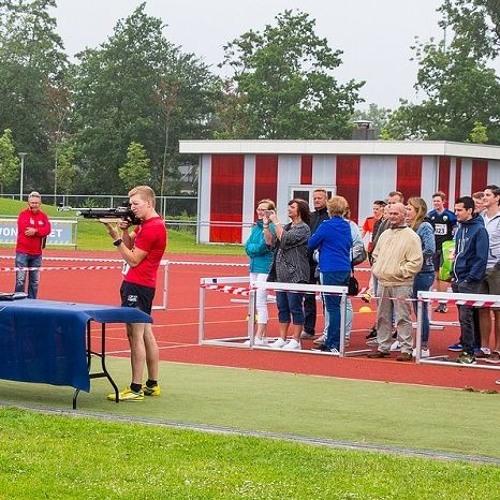 Maarten Bakker won het eerste Westlandse kampioenschap Zomerbiatlon
