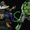 Thanos vs hulk/luta na rima\