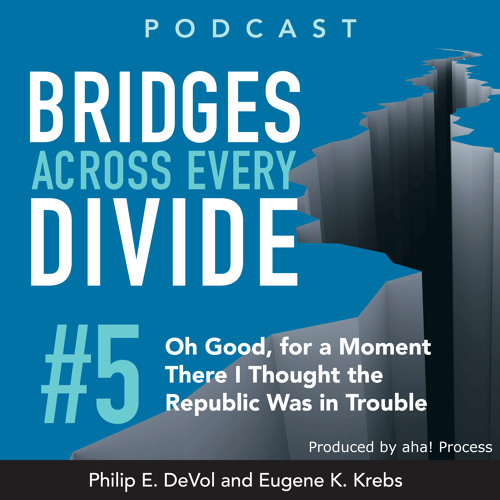 Bridges Across Every Divide Podcast 5: Oh Good, for a Moment There I Thought the Republic...