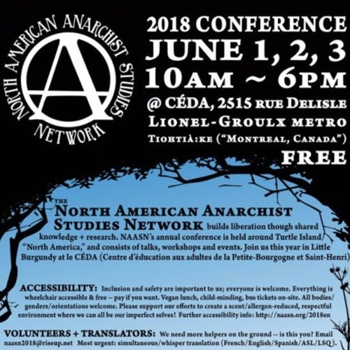 """We're Brokenhearted"", a talk on Christian Anarchism - NAASN Montréal"