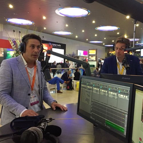 Harwil de Jong (Heijmans Vastgoed) en Lodewijk Hoekstra - New Business Radio op de PROVADA 2018