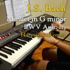 J.S. Bach - Minuet in G minor, BWV Anh. 115, harpsichord (synth) cover