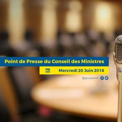 Point de presse du Conseil des Ministres du mercredi 20 Juin 2018