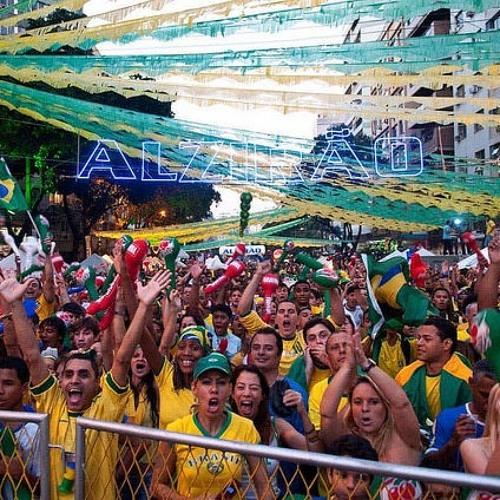 No Rio, Alzirão reúne milhares de pessoas para torcer pelo Brasil