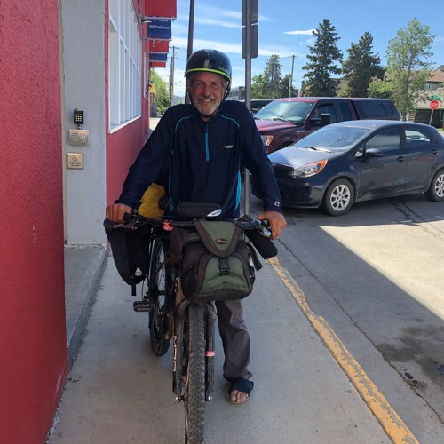 Cyclist defies the Dempster
