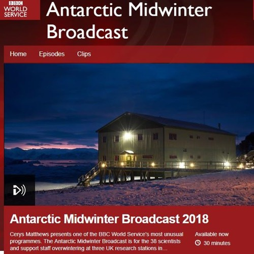 Clips from BBC World Service Antarctic Midwinter Broadcast
