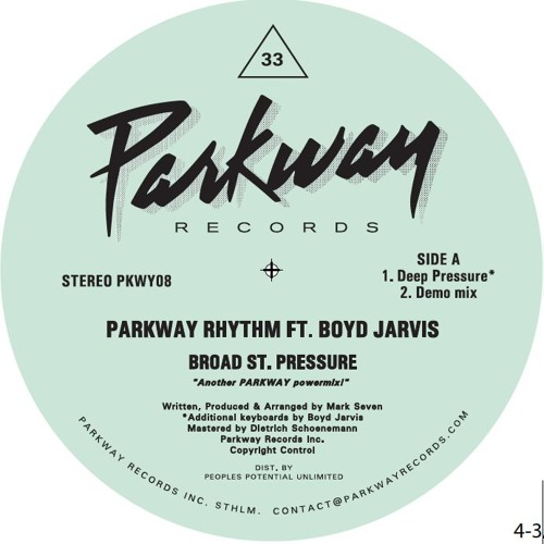 PREVIEW: Parkway Rhythm ft BOYD JARVIS - Broad St. Pressure