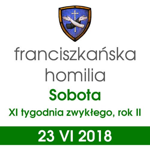 Homilia: sobota XI tygodnia - 23 VI 2018