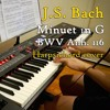 J.S. Bach - Minuet in G, BWV Anh. 116, harpsichord (synth) cover