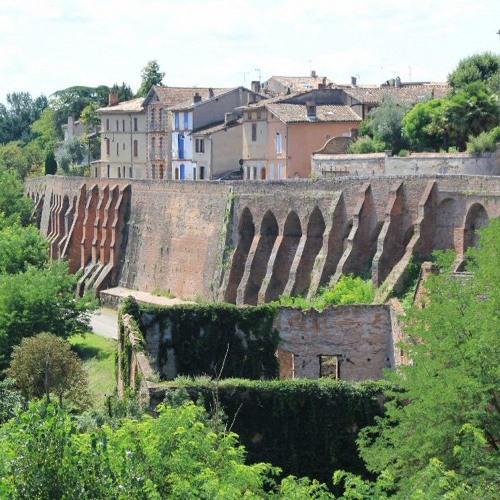 Visite sonore de Rabastens : Le moulin, rdv en bas des escaliers du Fossé Moulinal (Classe de CE2)