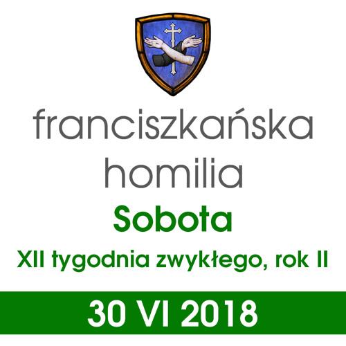 Homilia: sobota XII tygodnia - 30 VI 2018