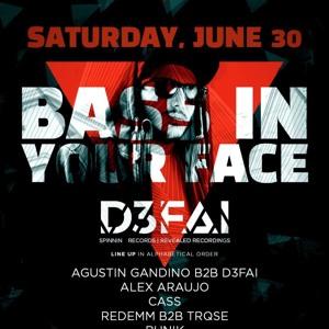 D3FAI & Gandi @ Bass In Your Face PY 2018-06-30 Artwork