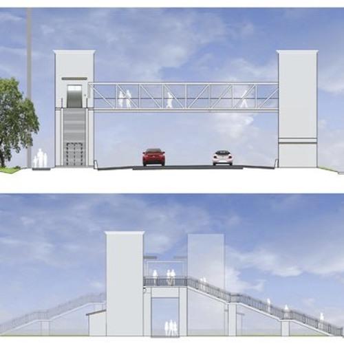 Elevators Part of Pedestrian Bridge in Florida Keys